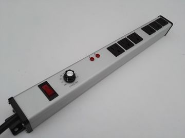 Aluminum Alloy Adjustable Timer Power Outlet PDU Power Bar With Six Way